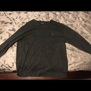 Charcoal Gray Long Sleeved Polo Tee